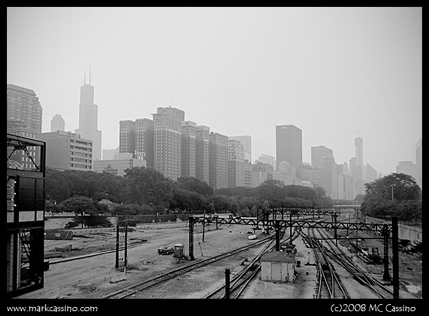 Commuter Train Tracks, Chicago, Illinois