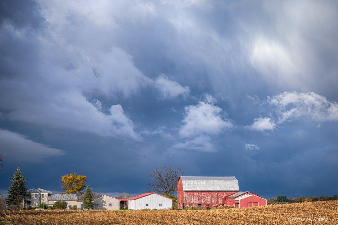 Dark Skies Over Corn Stubble