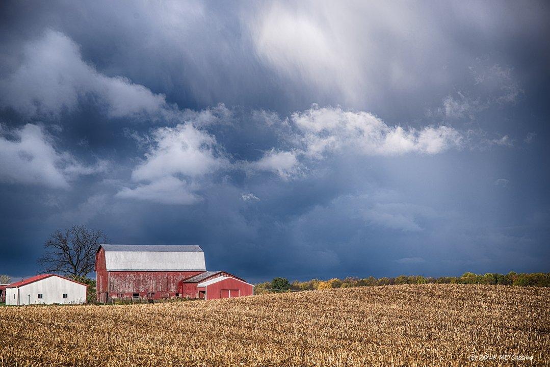 Dark Skies Over Corn Stubble II