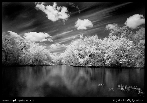 Infrared Photo of the Kalamazoo River taken on Rollei IR 400