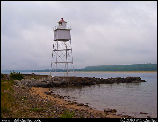 Light at Grand Marais Harbor