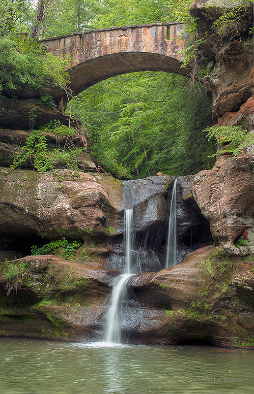 Upper Falls Near Old Man's Cave, Hocking Hills State Park, Ohio