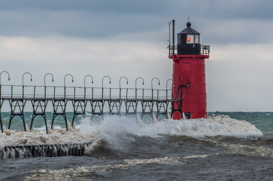 High Surf at South Haven