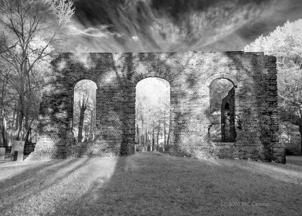 Biggin Church Ruins in Infrared