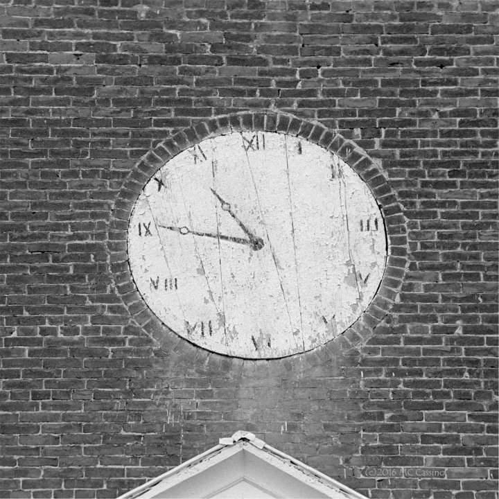 Painted Clock, Brick Church, Clarendon Vermont