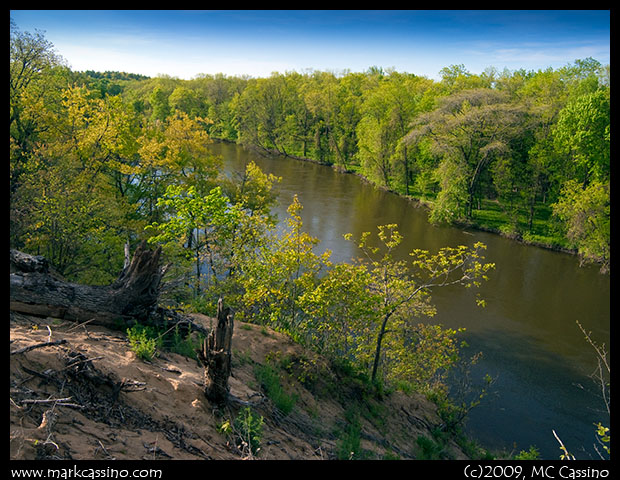 Kalamazoo River In Spring