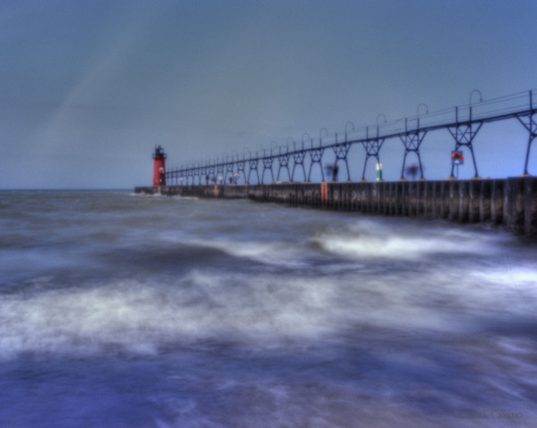Pinhole photo of South Haven Lighthouse.