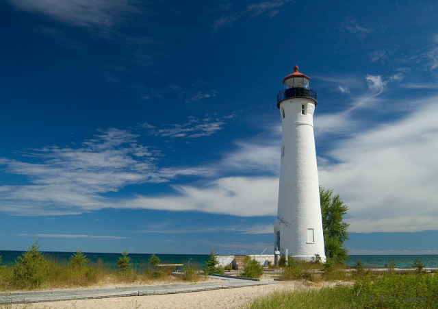 Lighthouse at Crisp Point, Michigan