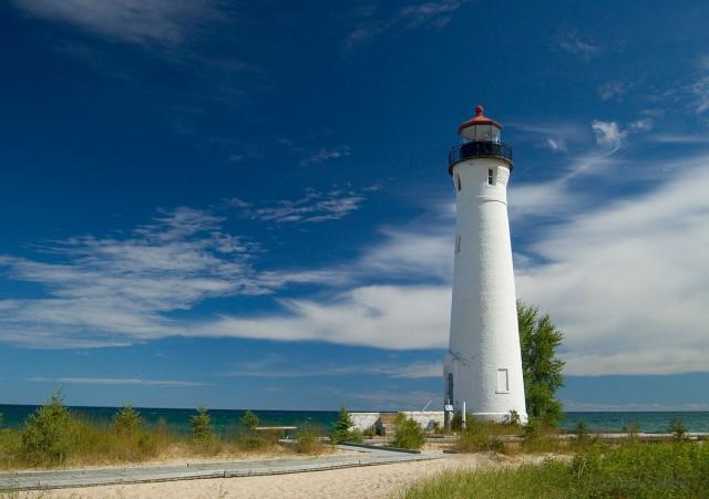 Lighthouse at Crisp Point, Michigan
