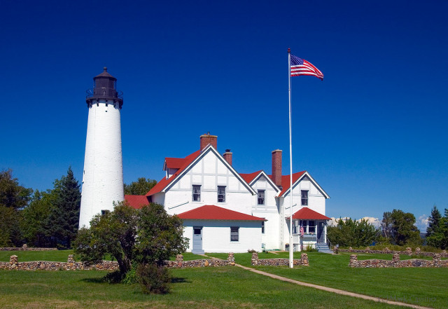 Point Iroquois Light, Michigan's Upper Peninsula.