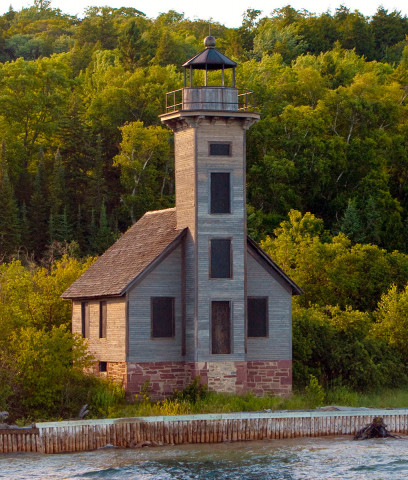 Grand Island East Channel Light near Munising, Michigan